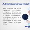 Alinutri comemora 25 anos!